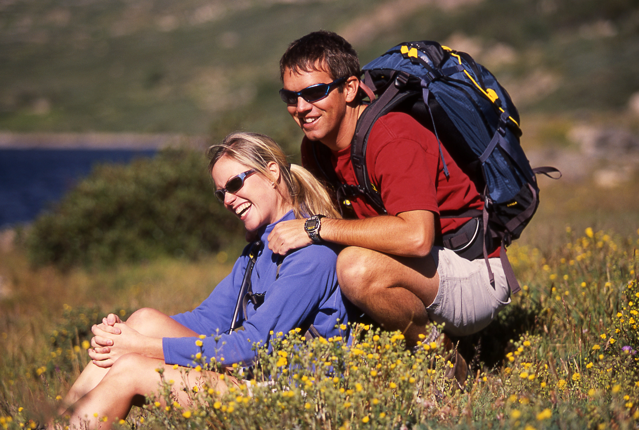 Couple Hiking in Summer at Breckenridge