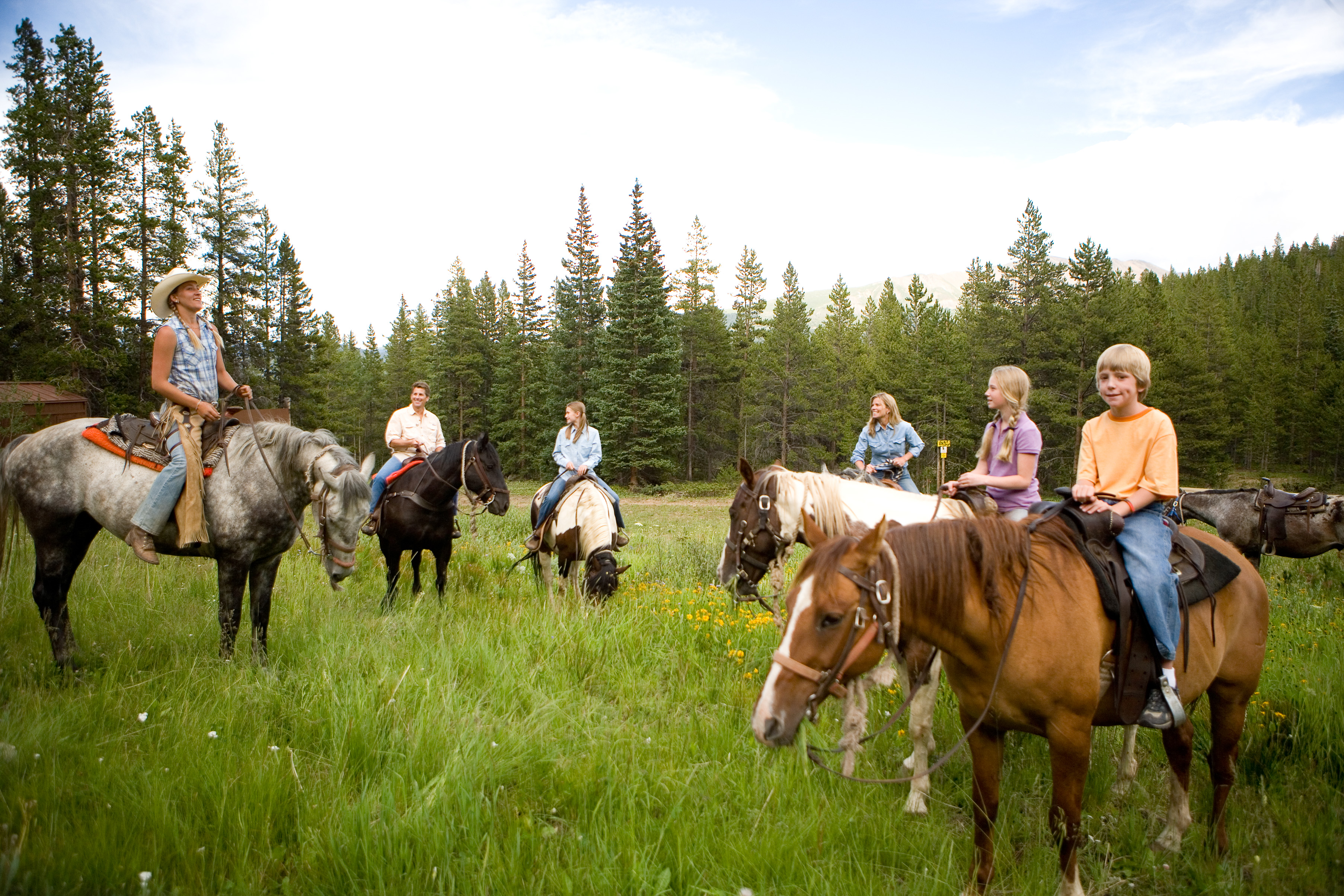 Horseback riding in Breck