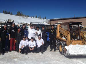 """The Breck Food & Beverage and Grounds Maintenance teams partner to """"do good"""" by recycling and sorting waste on the mountain."""